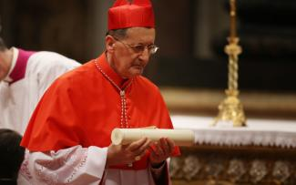 Cardinal Beniamino Stella attends the Consistory at St Peter's Basilica on February 22, 2014